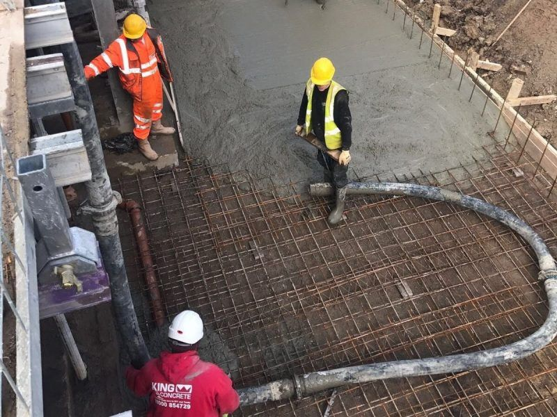 Concrete Floor being poured